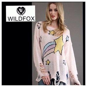 NWT Wildfox Lennon Shooting Star Sweater